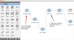 screenshot for import treetagger annotations recipe workflow